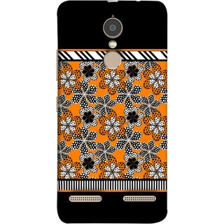 FUSON Designer Back Case Cover for Lenovo K6 (White Gray Yellow White Black Flowers Unstitched)