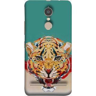 FUSON Designer Back Case Cover for Lenovo K6 (Multicolour Tigers Leopard Perfect Look King Night Tree)