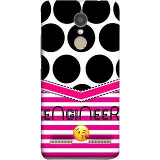 FUSON Designer Back Case Cover for Lenovo K6 (Kissing Smileyengineering Nice Semister Pink Design Paper)