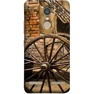 FUSON Designer Back Case Cover for Lenovo K6 (Wheel Hay Cart Old Wagons Indian Cycle Rickshow)