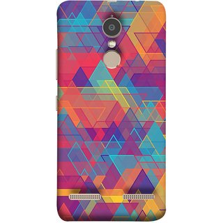 FUSON Designer Back Case Cover for Lenovo K6 (Geometric Watercolour Art Print Pink Bright)