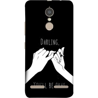 FUSON Designer Back Case Cover for Lenovo K6 (My Love All Will Be Fine Just Relaxed Holding Hand)