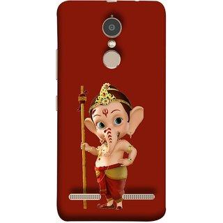 FUSON Designer Back Case Cover for Lenovo K6 (God Ganesha Children Special Character Comic Serial)
