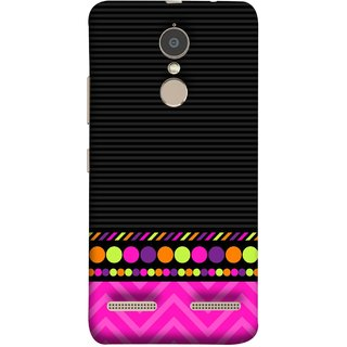 FUSON Designer Back Case Cover for Lenovo K6 (White Pack Craft Paper Dots Black Background)