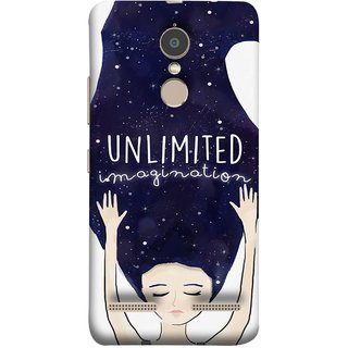 FUSON Designer Back Case Cover for Lenovo K6 (Girls With Long Hairs See Universe Milky Way Stars )