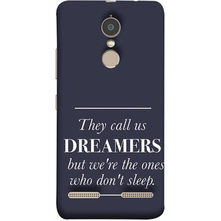 FUSON Designer Back Case Cover for Lenovo K6 (But We Are The Ones Who Don'T Sleep Successful )