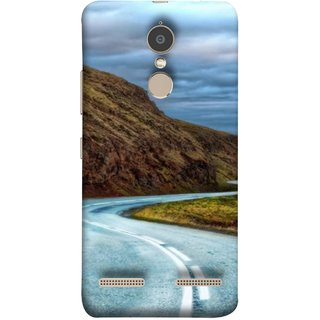 FUSON Designer Back Case Cover for Lenovo K6 (Scenic Road And Beautiful Mountains Highway Nature)