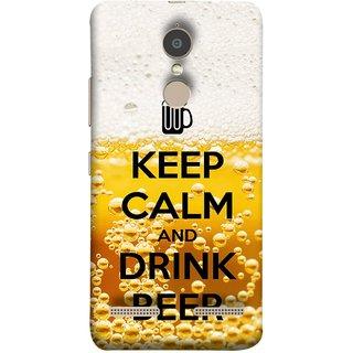 FUSON Designer Back Case Cover for Lenovo K6 (Beer Sign Glasses Bubbles Daaru Drink Wine Vodka)
