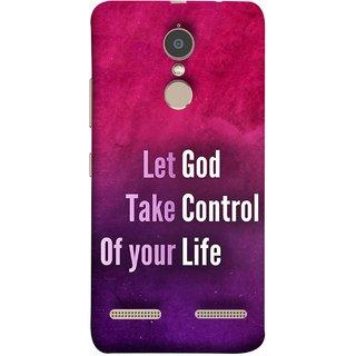 FUSON Designer Back Case Cover for Lenovo K6 (Ishwar God Sake Controlling Life Happy Life)