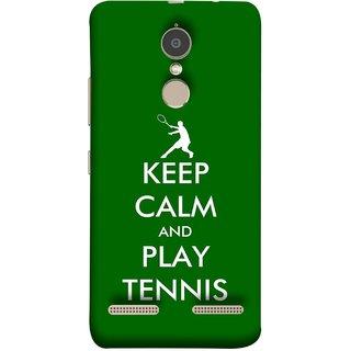 FUSON Designer Back Case Cover for Lenovo K6 (Tennis Player Logo Keep Silent And Cool Game On)