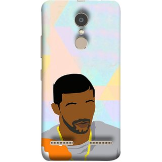 FUSON Designer Back Case Cover for Lenovo K6 (Eggs On Beach Gold Chain Jewellery Eyebrows Grey)