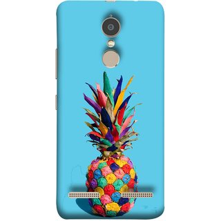 FUSON Designer Back Case Cover for Lenovo K6 (Light Bright Cream Pineapple Lamp Ananas Pineapple Skin)