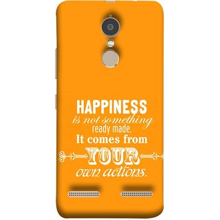 FUSON Designer Back Case Cover for Lenovo K6 (It Comes From Your Own Actions Happy In Life)