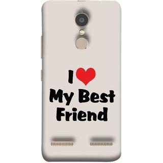FUSON Designer Back Case Cover for Lenovo K6 (Lover True And Pure Friendship Day Hearts Forever)
