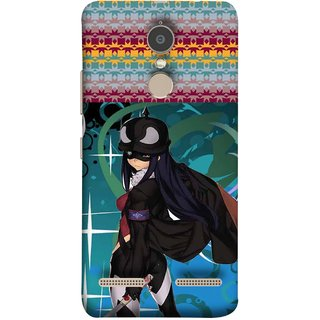 FUSON Designer Back Case Cover for Lenovo K6 (Blue Background Woman Standing Holding Warrior Fantasy)