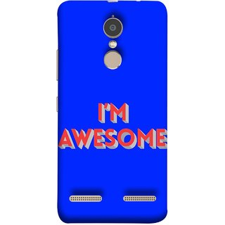 FUSON Designer Back Case Cover for Lenovo K6 (I Am Lovely Wow Fact Motivational Inspirational Words)