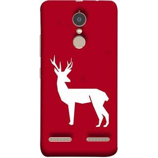FUSON Designer Back Case Cover for Lenovo K6 (Illustration Silhouette Majestic Standing Reindeer)