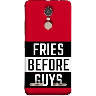 FUSON Designer Back Case Cover for Lenovo K6 (Food Before Dudes Food Lovers Mac D Lovers )