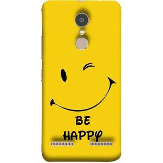 FUSON Designer Back Case Cover for Lenovo K6 (Yellow Background Cute Smiling Smiley Big Smile)