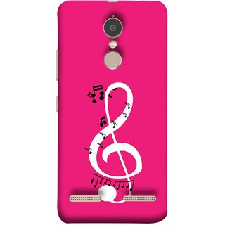 FUSON Designer Back Case Cover for Lenovo K6 (Disc Music Notes Music Lover And Collector )
