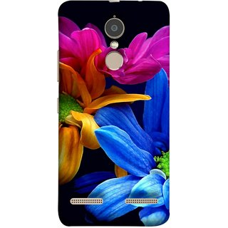 FUSON Designer Back Case Cover for Lenovo K6 (Colourful Wow Hd Gerbera Flowers Pink Blur Orange)