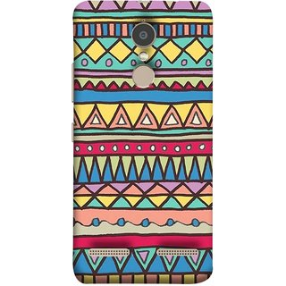 FUSON Designer Back Case Cover for Lenovo K6 (Tribal Patterns Colourful Eye Catching Verity Different )
