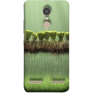 FUSON Designer Back Case Cover for Lenovo K6 (Sheaves Of Recently Harvested Rice Hanging To Dry)