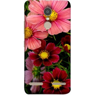 FUSON Designer Back Case Cover for Lenovo K6 (Flower Grass Green Small Nice Colourful Gerbera )