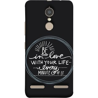 FUSON Designer Back Case Cover for Lenovo K6 (Every Minute Of It Always Like Enjoy Happy Cool Relax)