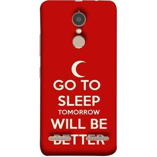 FUSON Designer Back Case Cover for Lenovo K6 (Moon Night Rest Relax Tomorrow Will All Fine )