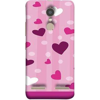 FUSON Designer Back Case Cover for Lenovo K6 (Always I Love You Red Hearts Couples Together Valentine)