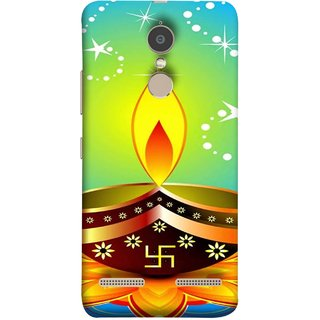 FUSON Designer Back Case Cover for Lenovo K6 (Wallpaper Vector Beautiful Vector Diwali Diya)