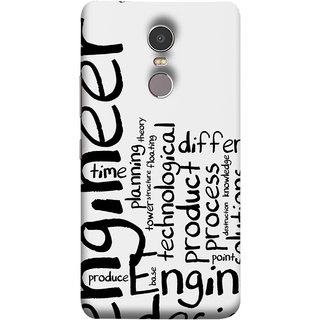 FUSON Designer Back Case Cover for Lenovo K6 Note (Engineer Process Corporate Jobs Technical Solutions )