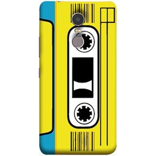 FUSON Designer Back Case Cover for Lenovo K6 Note (Tape Cassette Black Film Screws Old Player)