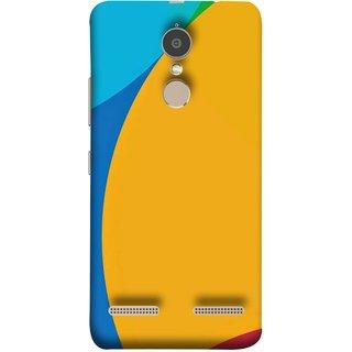 FUSON Designer Back Case Cover for Lenovo K6 ( Large Medium Circles Orange Yellow Red Blue Grey)
