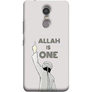 FUSON Designer Back Case Cover for Lenovo K6 Note (Allah One Arab Haj Men Middle East Necklaces)