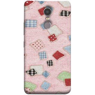 FUSON Designer Back Case Cover for Lenovo K6 Note (Baby Pink Lot Colours Squares Patch Tiles )