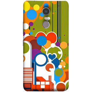 FUSON Designer Back Case Cover for Lenovo K6 Note (Multi Designs Squares Circles Hearts Mehandi)