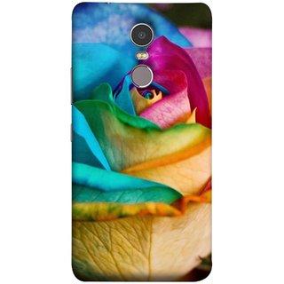 FUSON Designer Back Case Cover for Lenovo K6 Note (Rose Colours Red Pink Yellow Blue Lovely Roses)