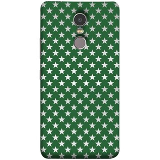 FUSON Designer Back Case Cover for Lenovo K6 Note (Small Lot Of Stars Green Back Shining Glossy)
