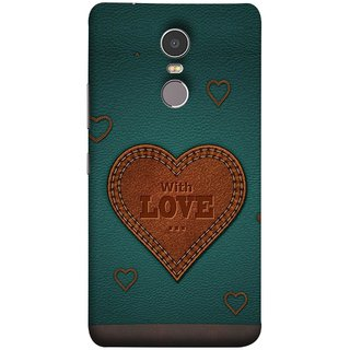 FUSON Designer Back Case Cover for Lenovo K6 Note (Dil Se Tumhare Sath Always Leather Jacket Hearts)