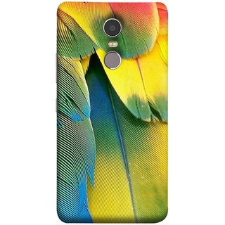FUSON Designer Back Case Cover for Lenovo K6 Note (Birds Feathers Parrot Peacock Best Back Cover )