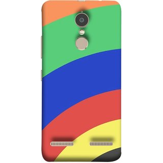 FUSON Designer Back Case Cover for Lenovo K6 ( Large Medium Circles Orange Yellow Red Blue Grey)