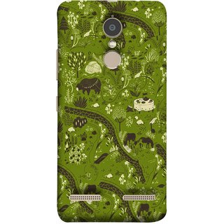FUSON Designer Back Case Cover for Lenovo K6 (Green Grass Cow Mushrooms Leaves Branches )