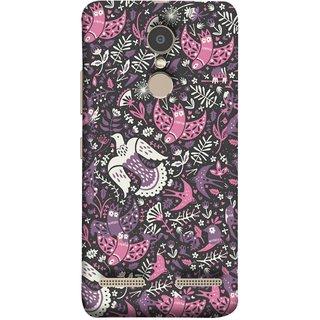 FUSON Designer Back Case Cover for Lenovo K6 (Pink White Beige Colour Leaves Flowers Walldesign Gift )