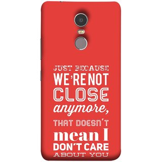 FUSON Designer Back Case Cover for Lenovo K6 Note (Just Because Not Close I DonT Care Mean Care For You)
