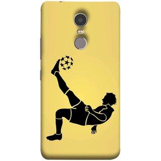 FUSON Designer Back Case Cover for Lenovo K6 Note (Uefa Champions League Starball Player Fifa )