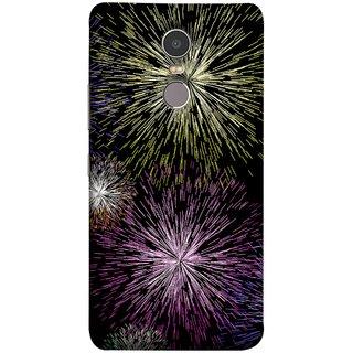 FUSON Designer Back Case Cover for Lenovo K6 Note (Dark Night Fireworks Diwali Dipawali Flowers )