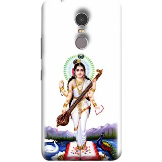 FUSON Designer Back Case Cover for Lenovo K6 Note (Goddess Of Knowledge Eloquence Learning Saraswati)