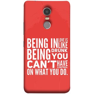 FUSON Designer Back Case Cover for Lenovo K6 Note (Being Drunk You Can'T Have Control On What You Do)